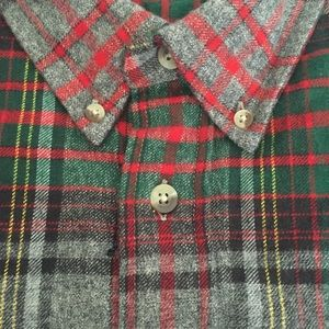 RedHead Men's 3XL plaid button front shirt